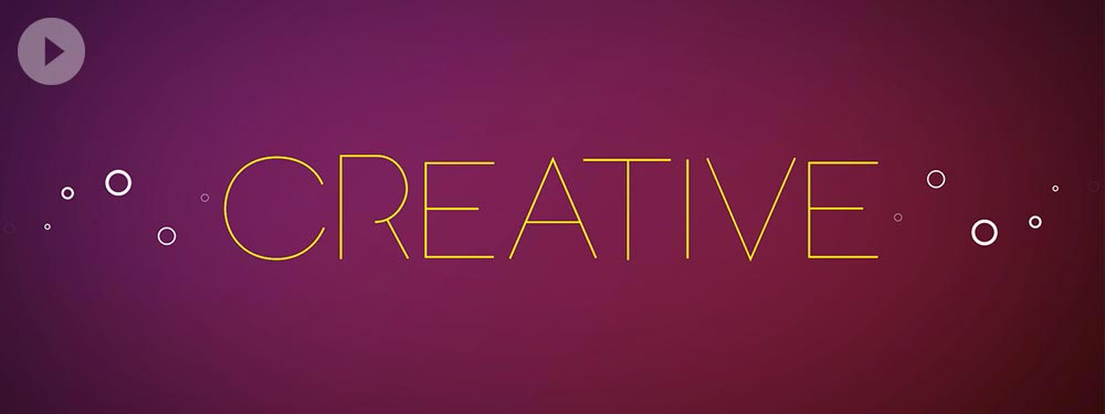 Be Creative Kinetic Typography Animation