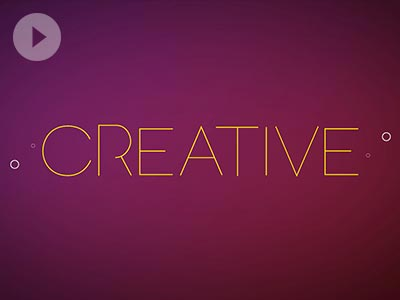 Be Creative - Typography Animation