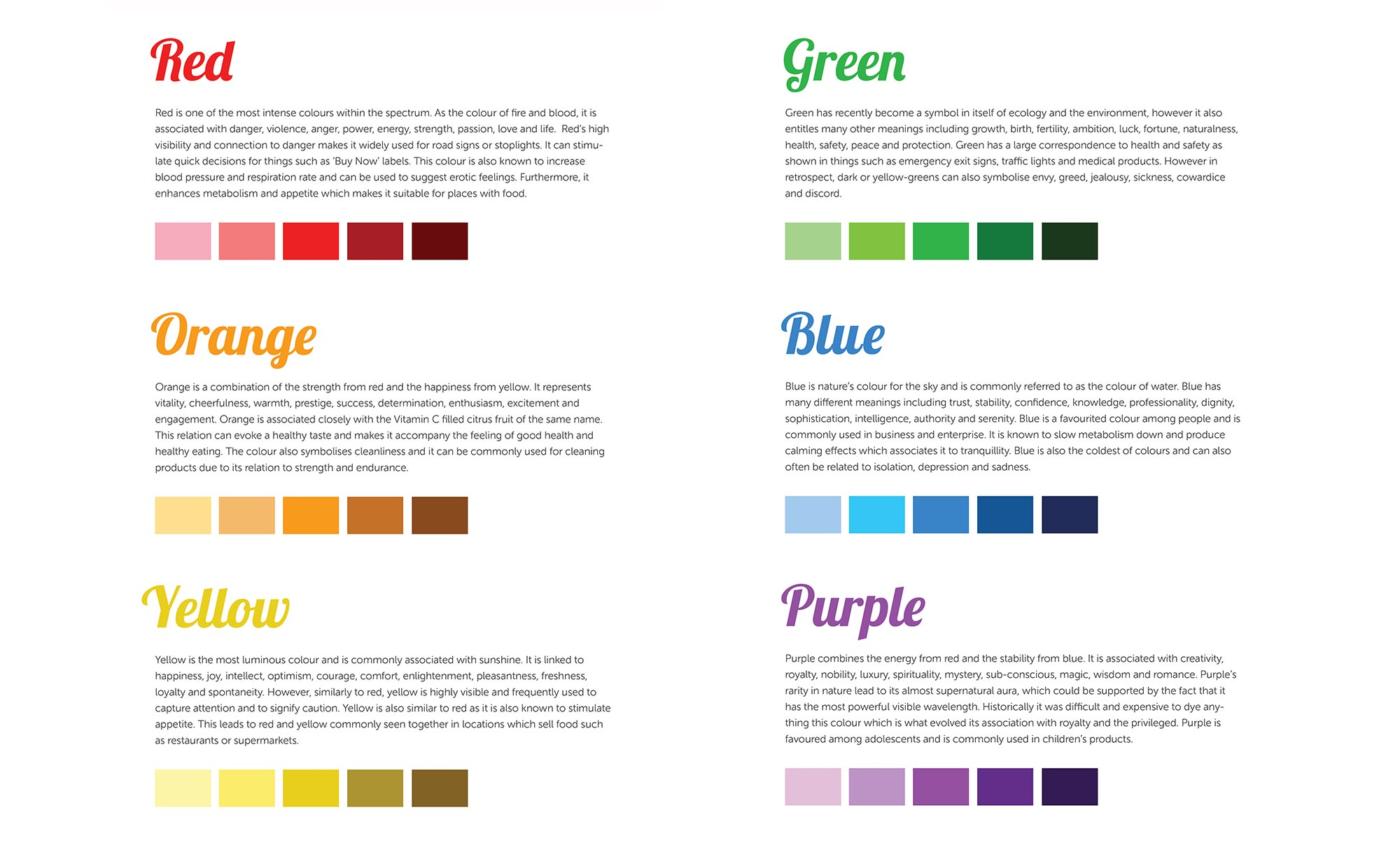 Colour Theory Inspired Posters