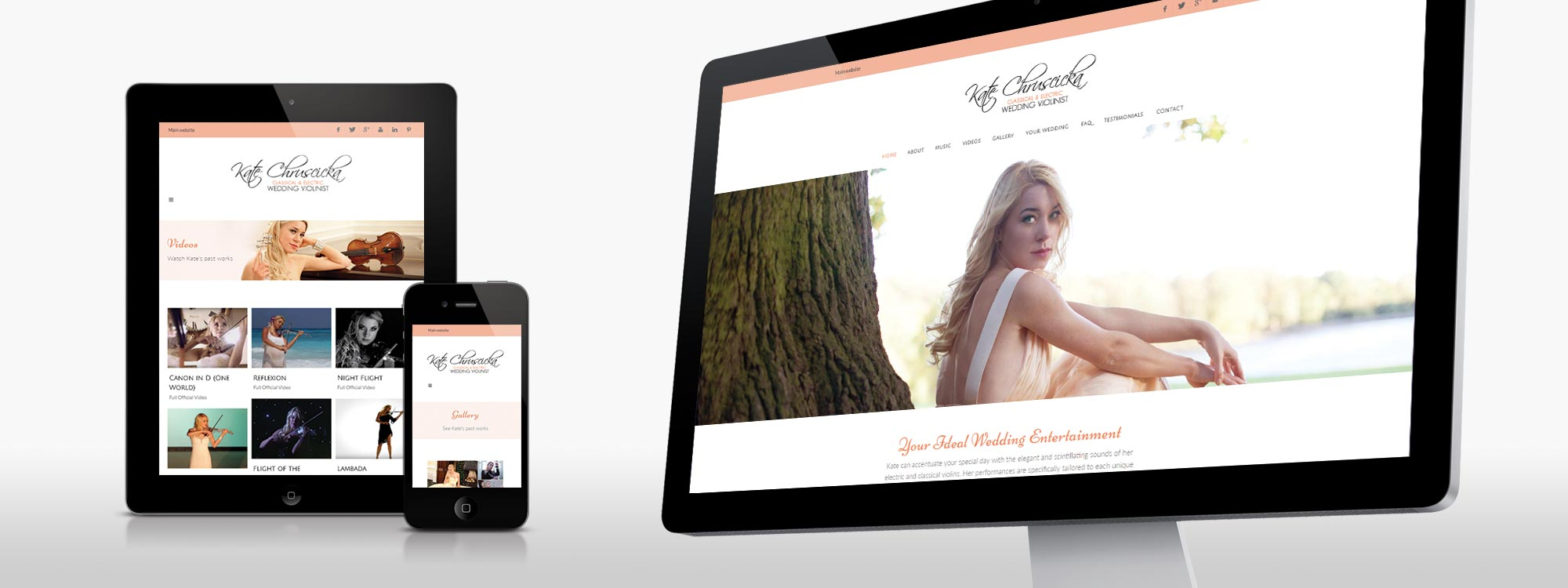 Kate Chruscicka Wedding Violinist Website