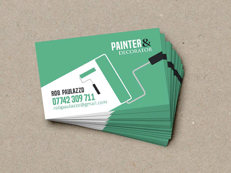 Rob Paulazzo Painter Decorator Business Cards
